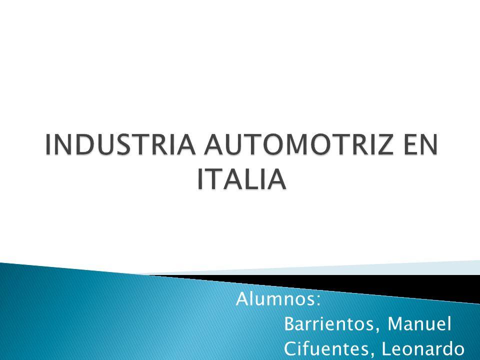 INDUSTRIA AUTOMOTRIZ EN ITALIA