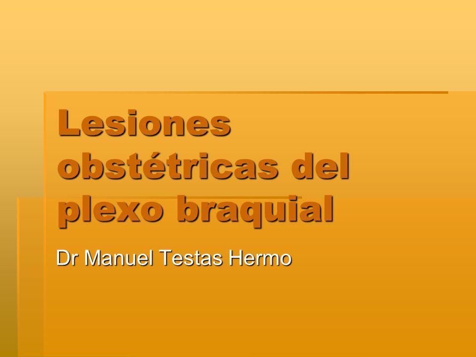 Lesiones obstétricas del plexo braquial
