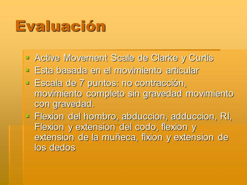 Evaluación Active Movement Scale de Clarke y Curtis