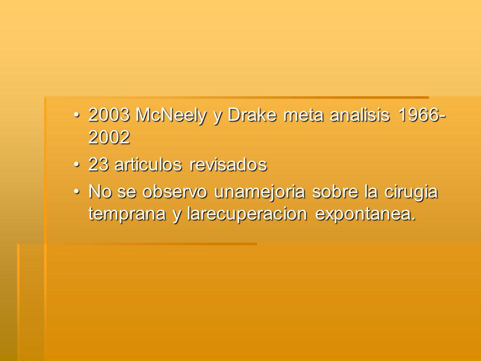 2003 McNeely y Drake meta analisis 1966-2002