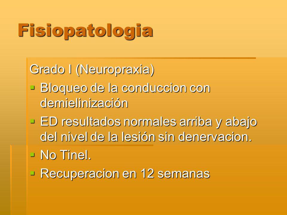 Fisiopatologia Grado I (Neuropraxia)