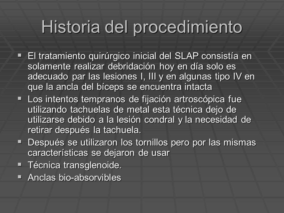 Historia del procedimiento