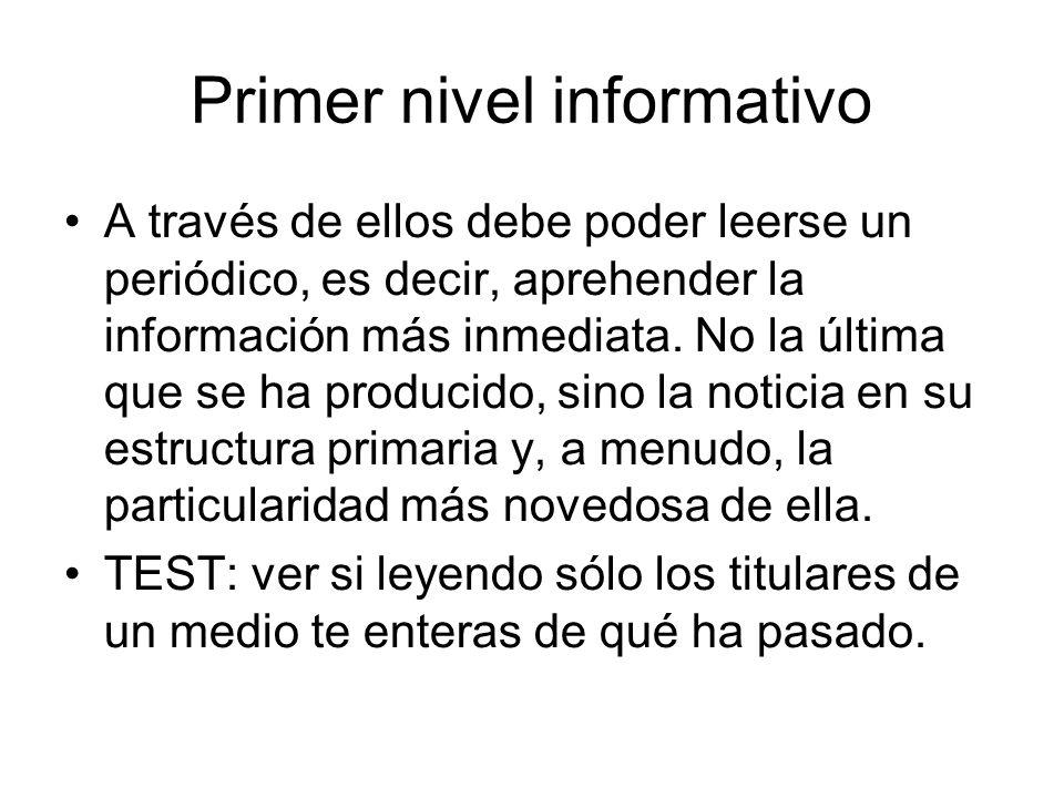 Primer nivel informativo