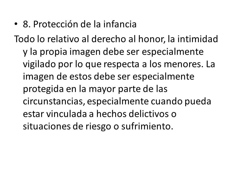 8. Protección de la infancia