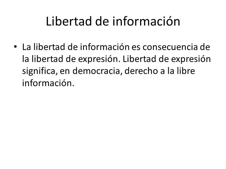 Libertad de información
