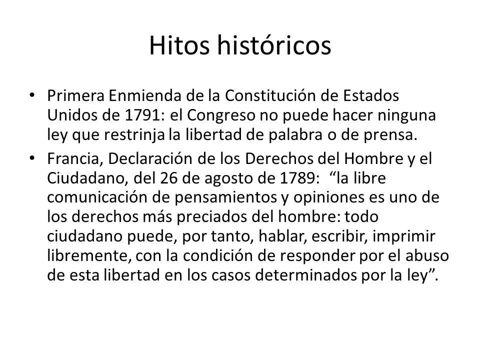 Hitos históricos