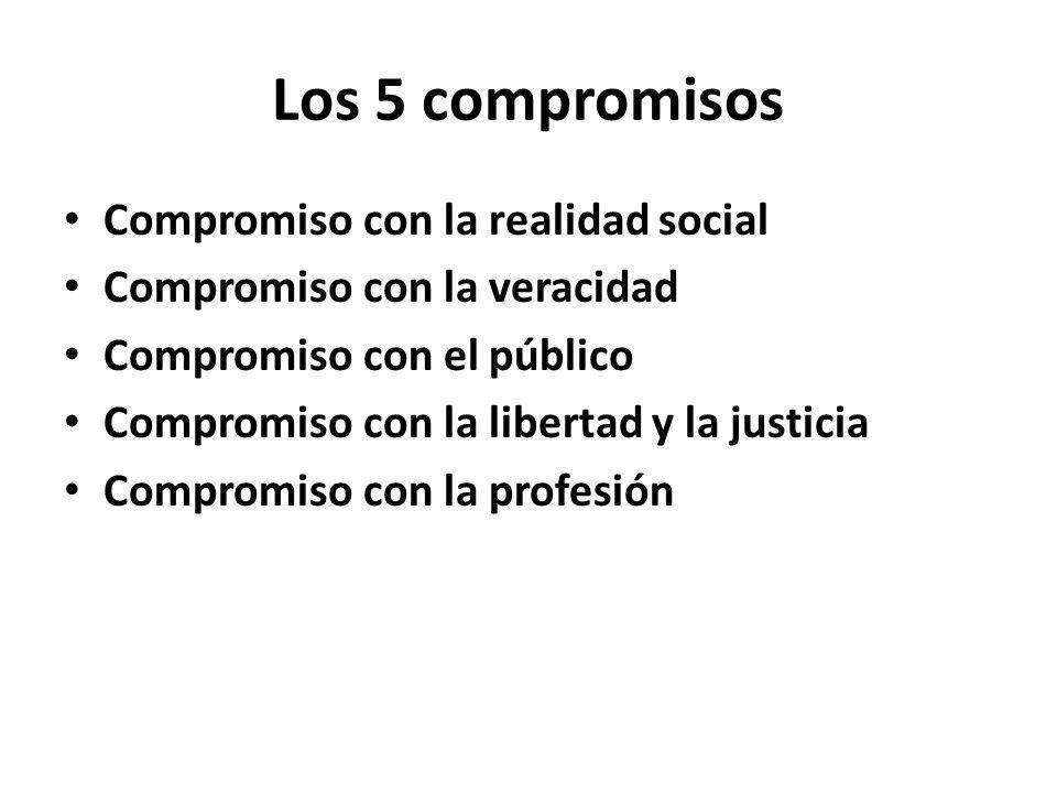 Los 5 compromisos Compromiso con la realidad social