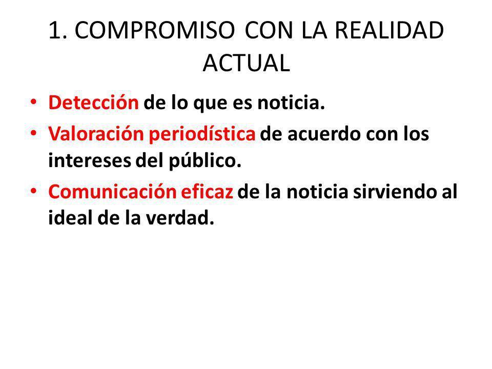 1. COMPROMISO CON LA REALIDAD ACTUAL