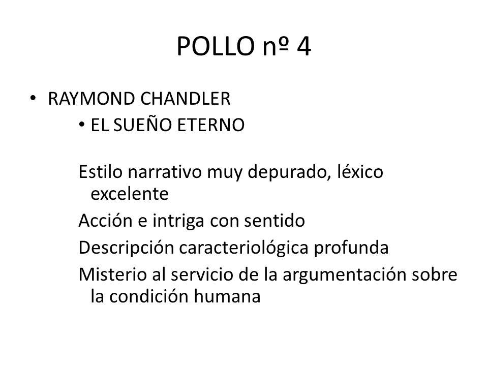 POLLO nº 4 RAYMOND CHANDLER EL SUEÑO ETERNO