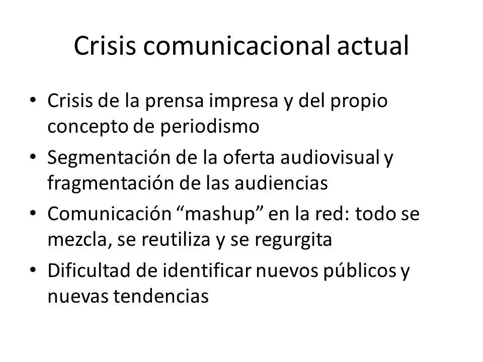 Crisis comunicacional actual