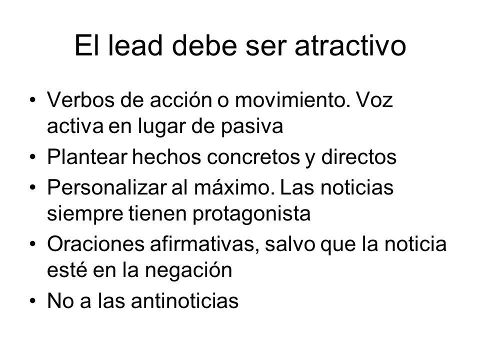 El lead debe ser atractivo