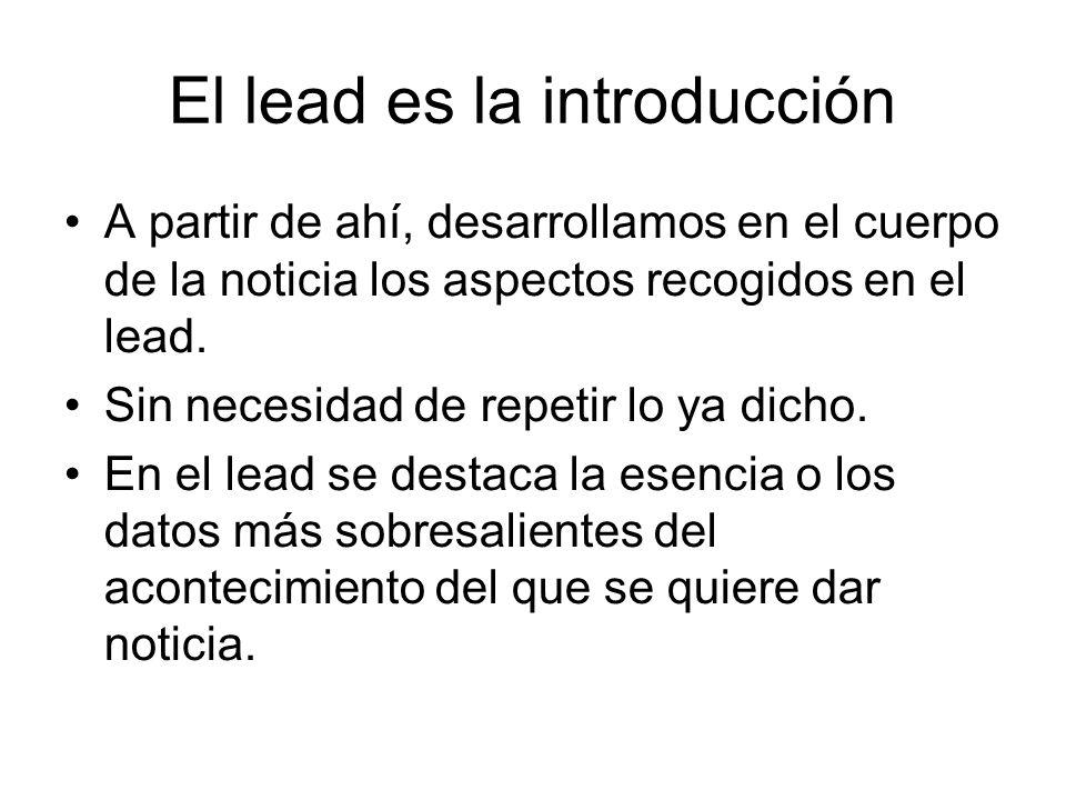 El lead es la introducción