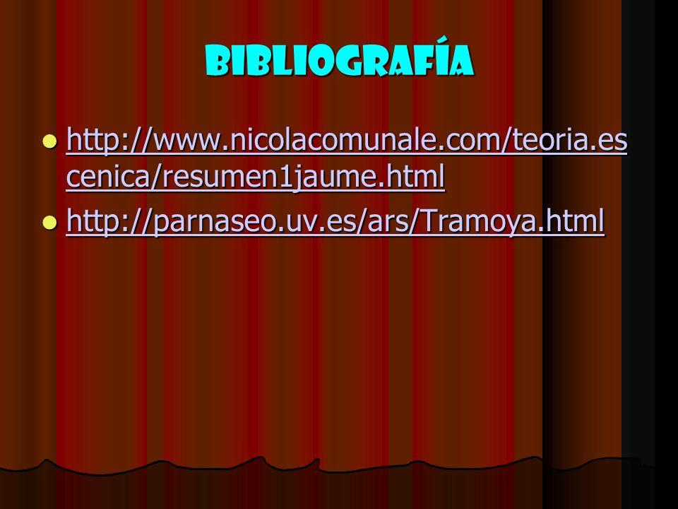 BIBLIOGRAFÍA http://www.nicolacomunale.com/teoria.es cenica/resumen1jaume.html.