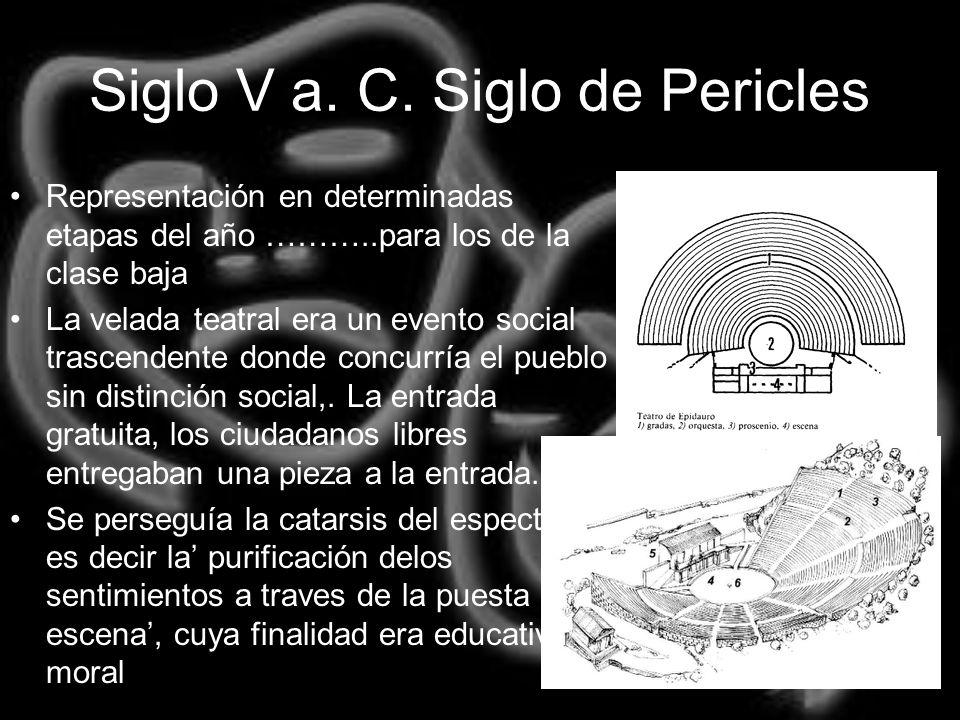 Siglo V a. C. Siglo de Pericles