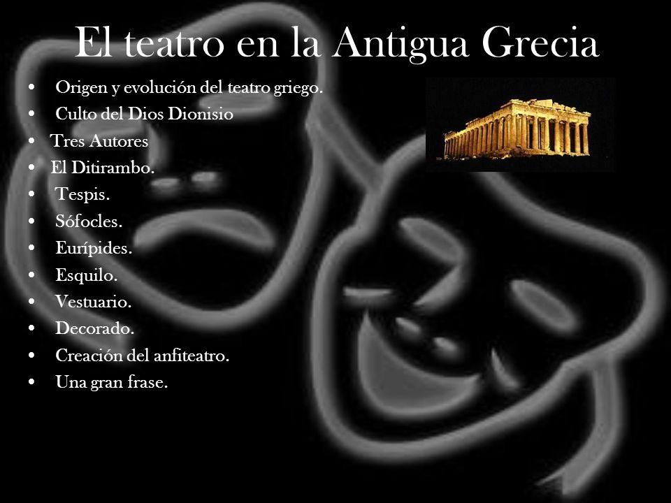 El teatro en la Antigua Grecia