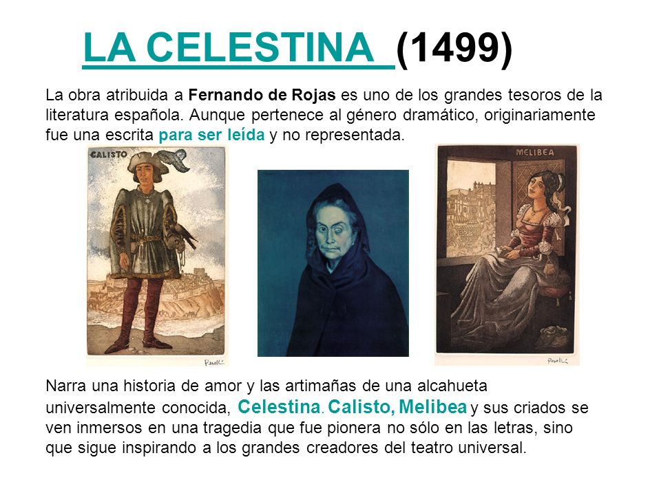 LA CELESTINA (1499)