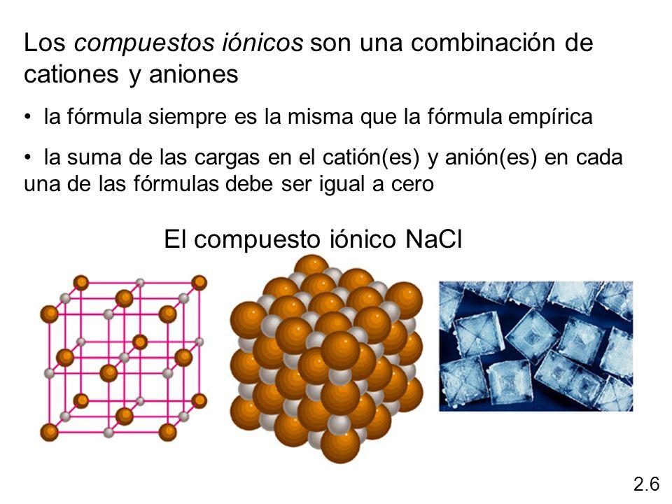 El compuesto iónico NaCl