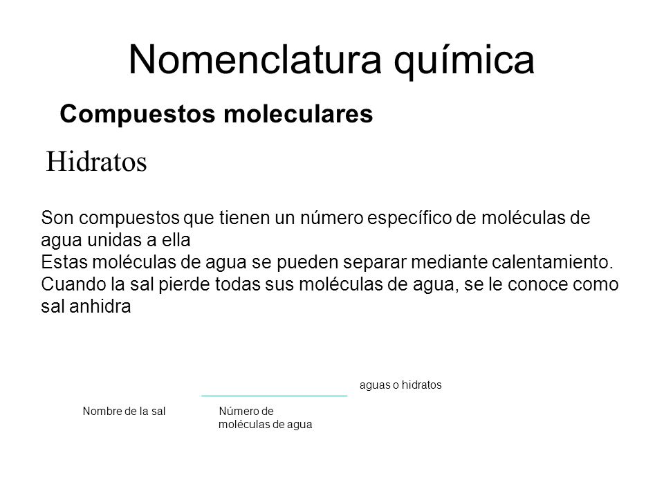 Compuestos moleculares