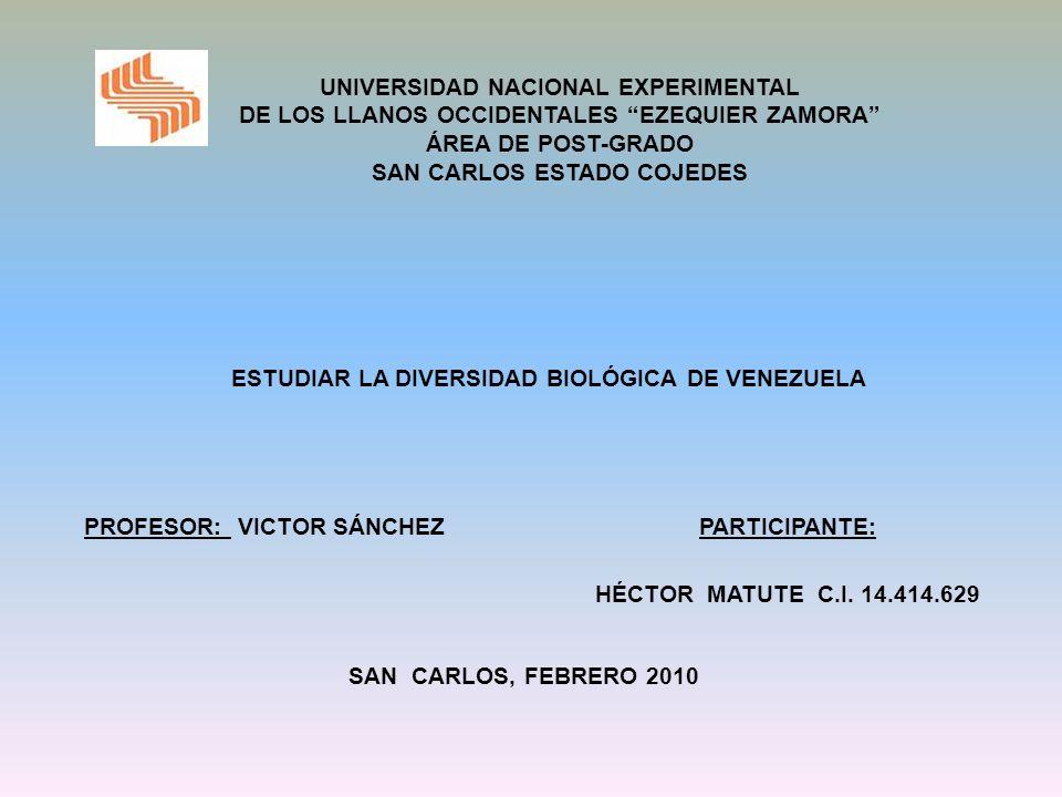 ESTUDIAR LA DIVERSIDAD BIOLÓGICA DE VENEZUELA