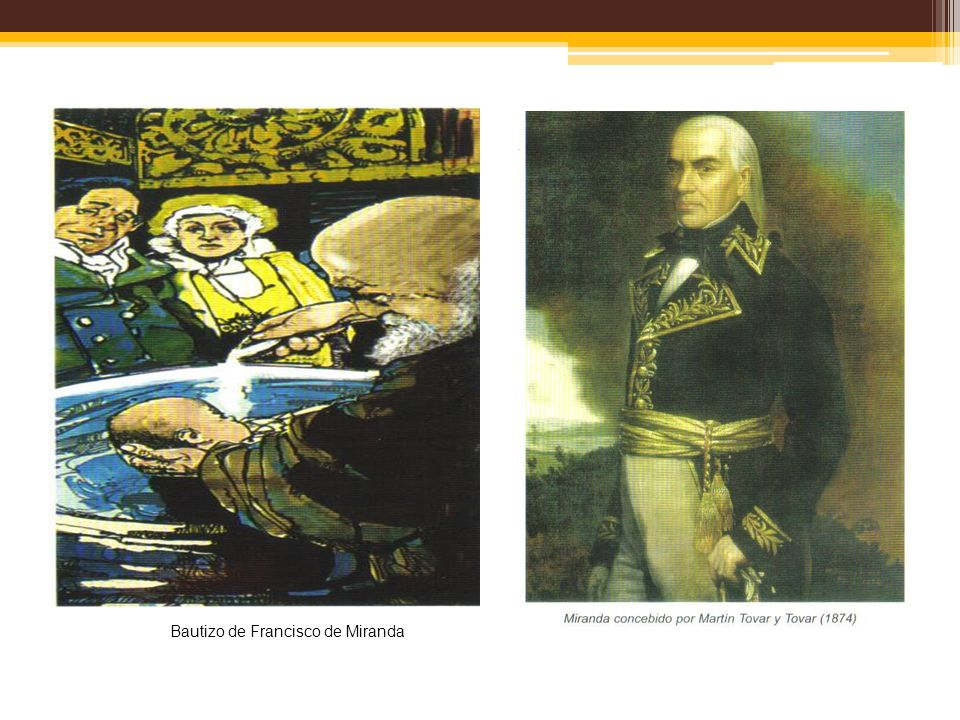 Bautizo de Francisco de Miranda