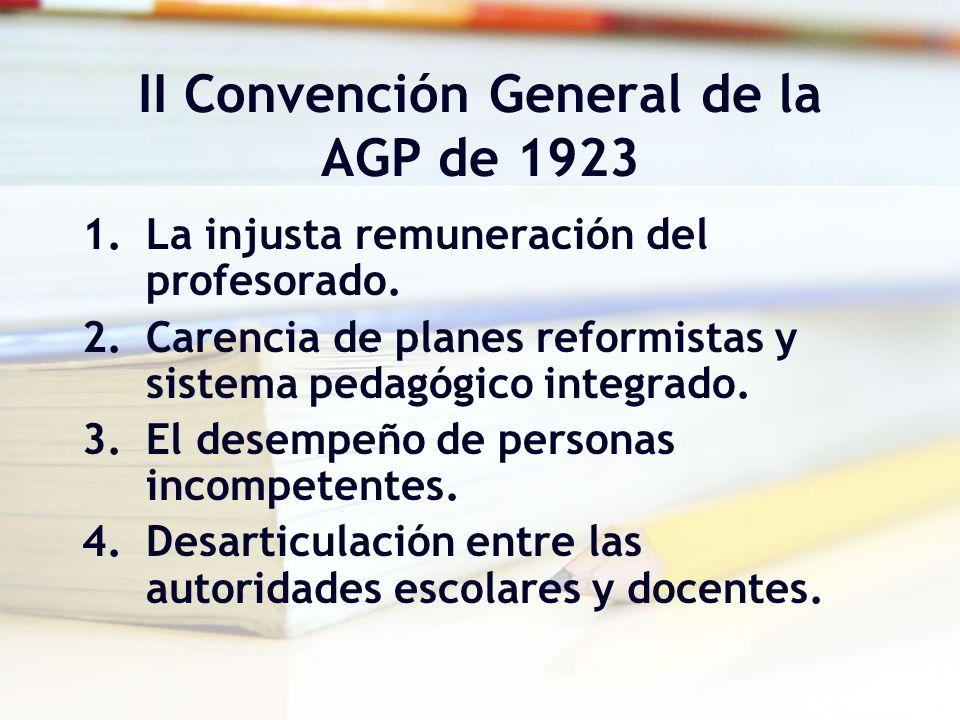 II Convención General de la AGP de 1923
