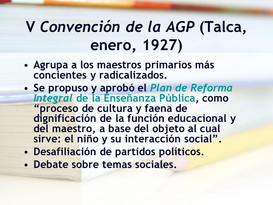 V Convención de la AGP (Talca, enero, 1927)