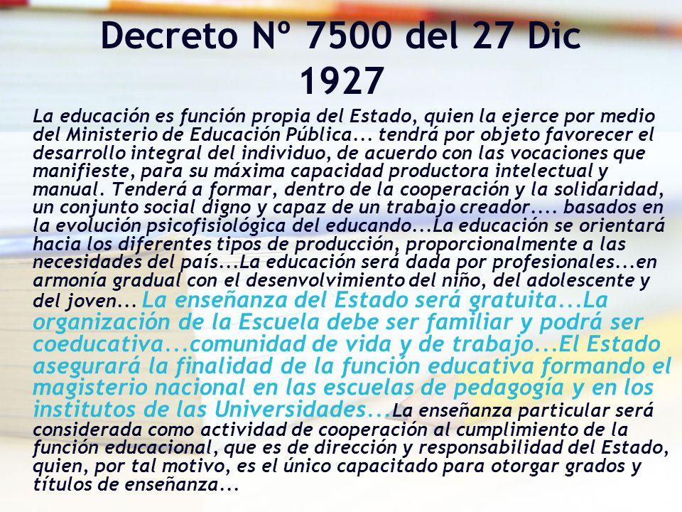 Decreto Nº 7500 del 27 Dic 1927