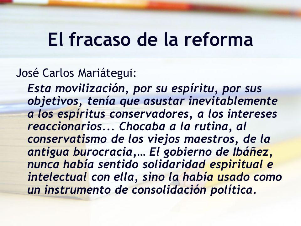 El fracaso de la reforma