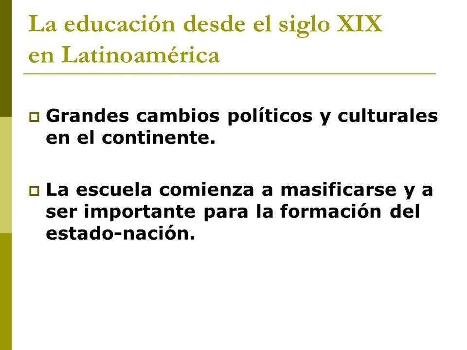 La educación desde el siglo XIX en Latinoamérica