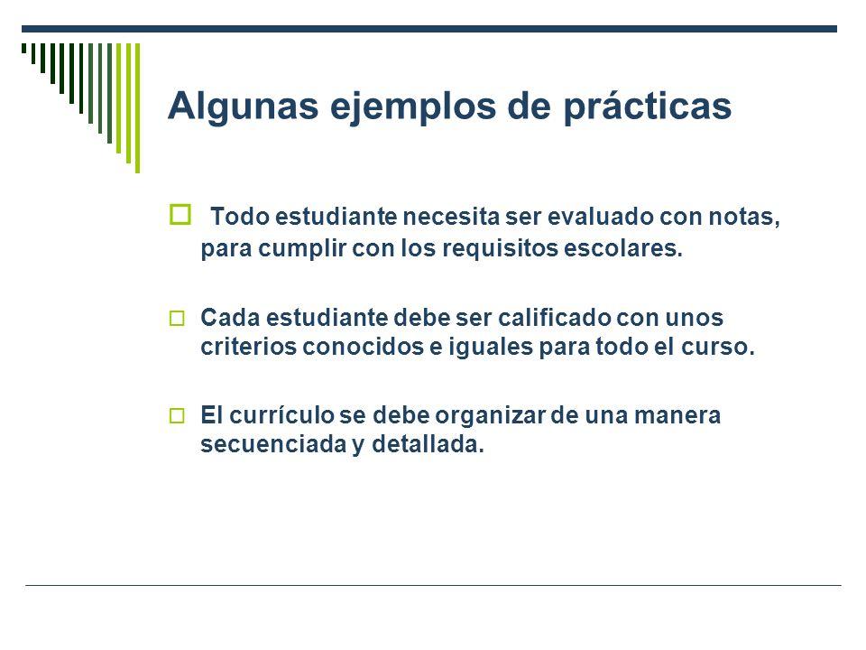Algunas ejemplos de prácticas