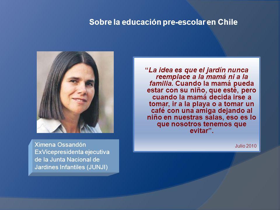 Sobre la educación pre-escolar en Chile