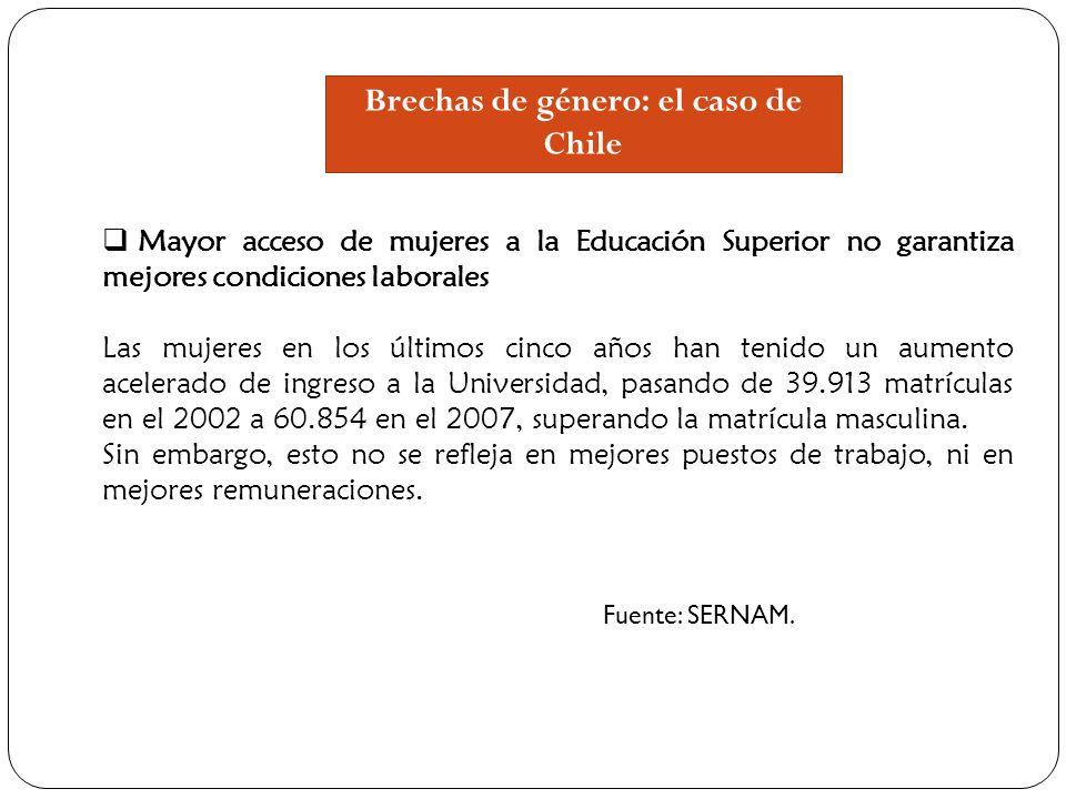 Brechas de género: el caso de Chile