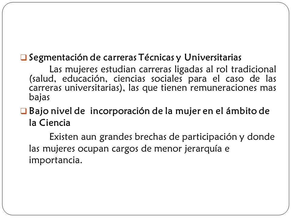 Segmentación de carreras Técnicas y Universitarias
