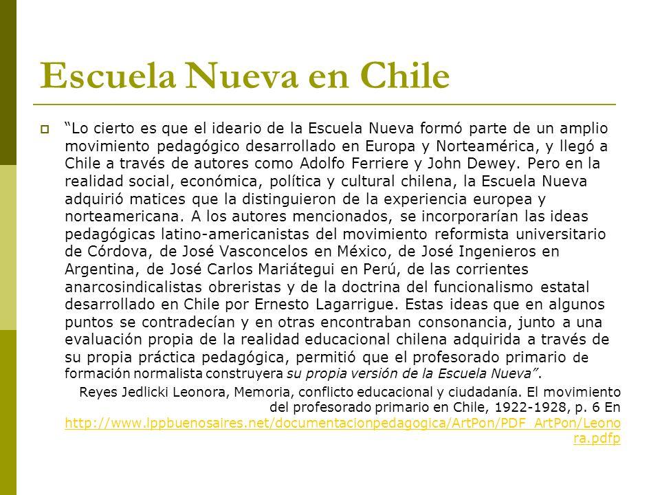 Escuela Nueva en Chile