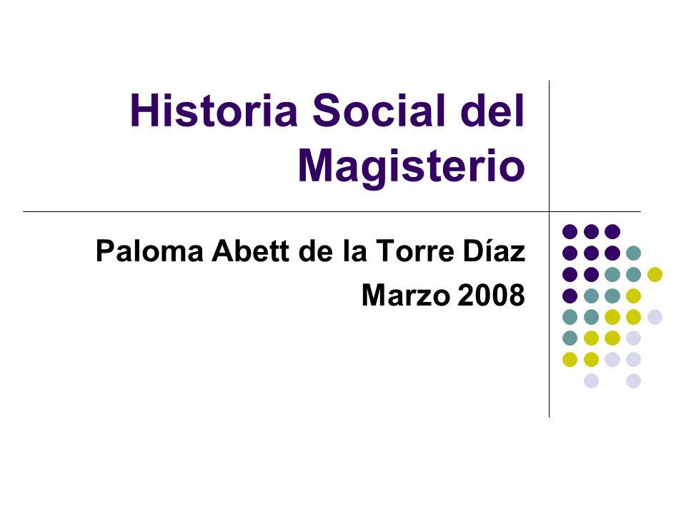 Historia Social del Magisterio