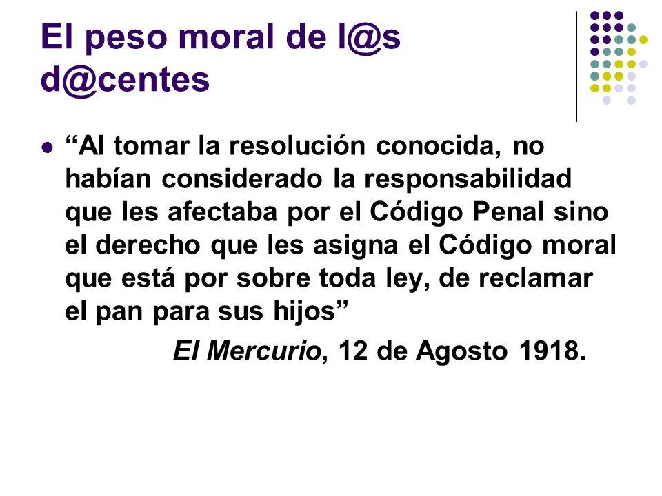 El peso moral de l@s d@centes