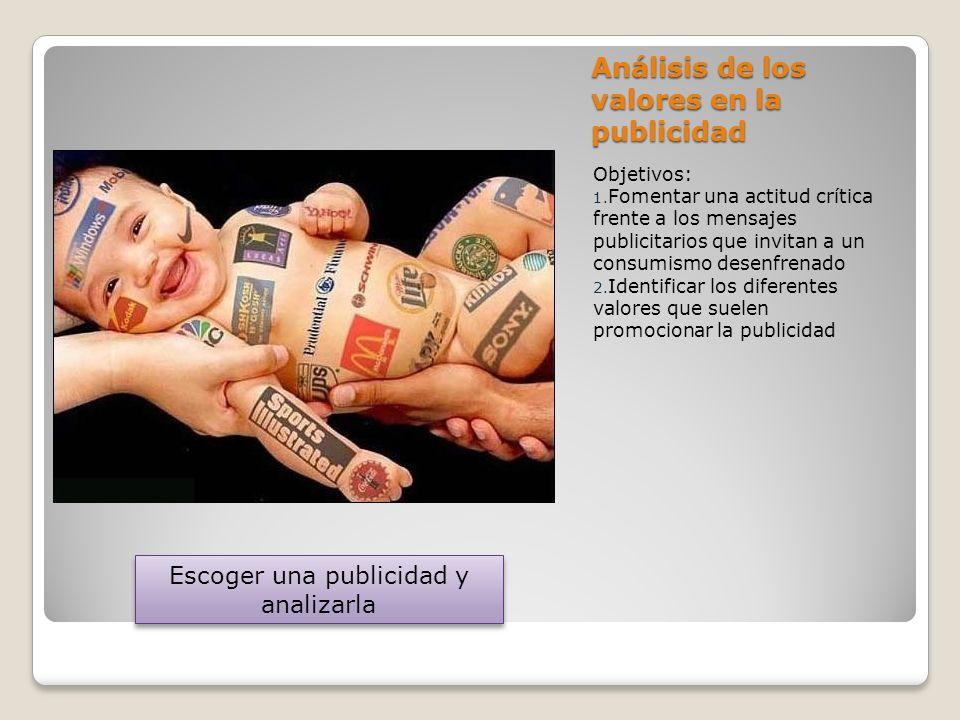 Análisis de los valores en la publicidad