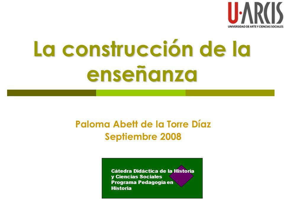 La construcción de la enseñanza