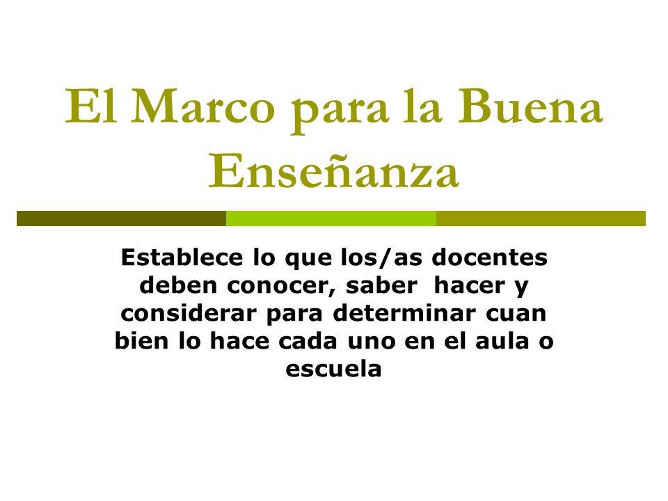 El Marco para la Buena Enseñanza