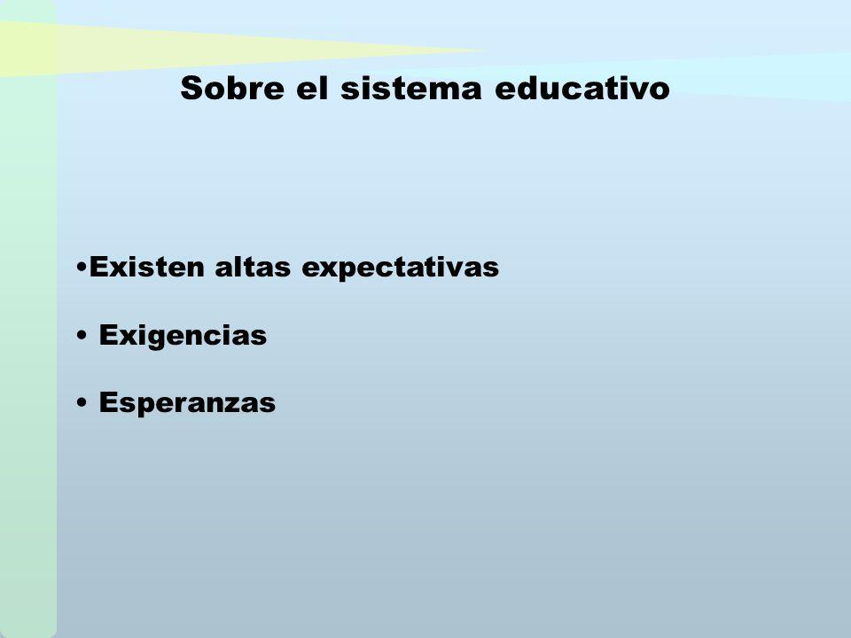 Sobre el sistema educativo