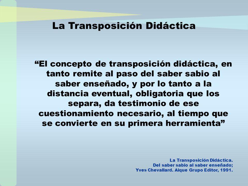 La Transposición Didáctica