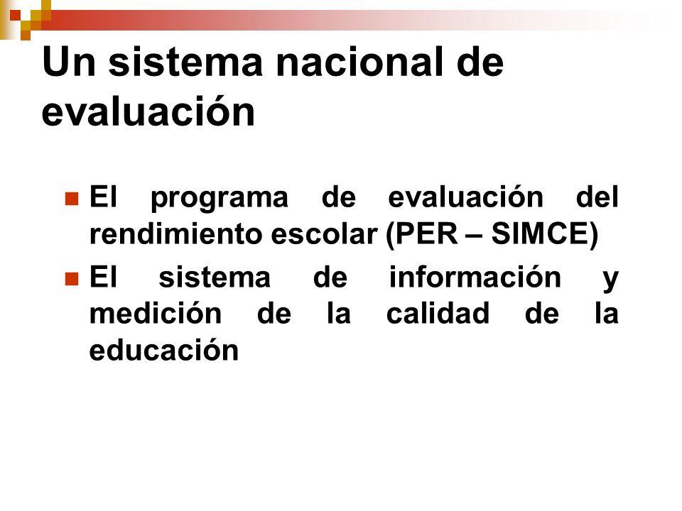 Un sistema nacional de evaluación