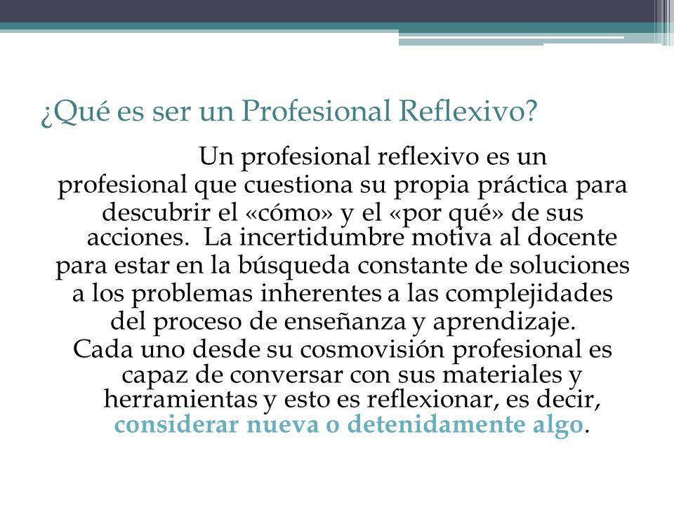 ¿Qué es ser un Profesional Reflexivo
