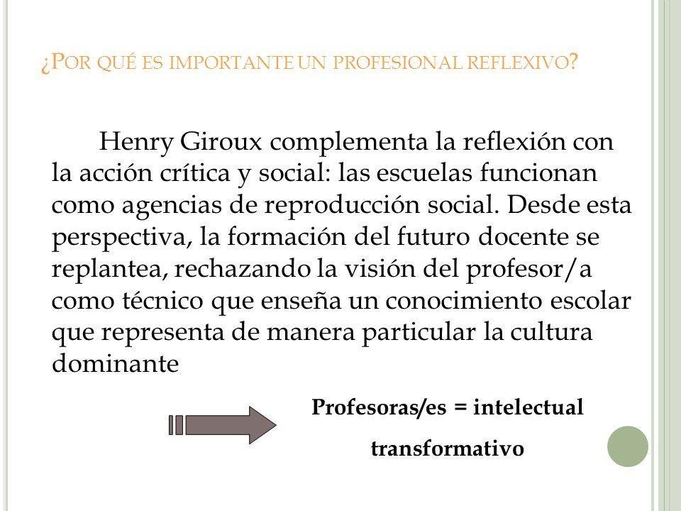 ¿Por qué es importante un profesional reflexivo