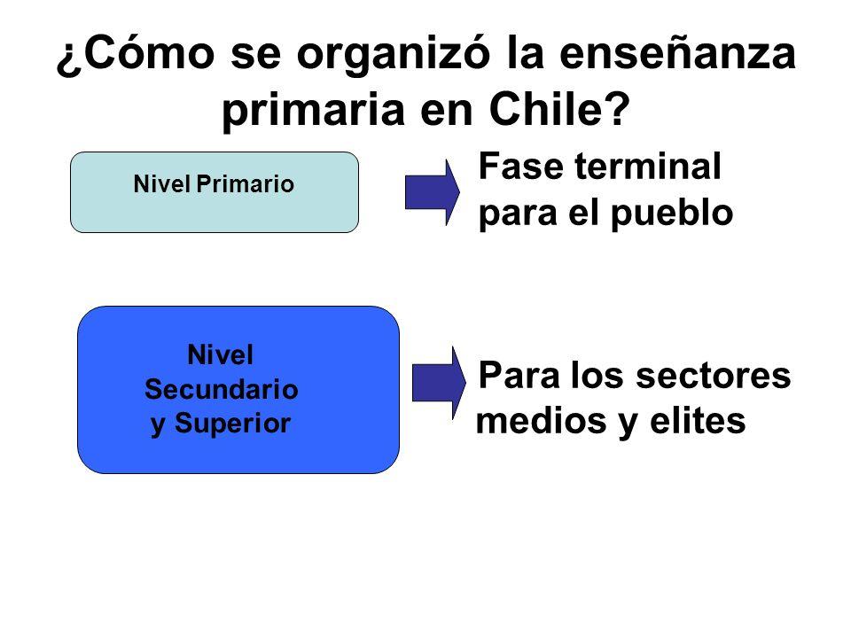 ¿Cómo se organizó la enseñanza primaria en Chile