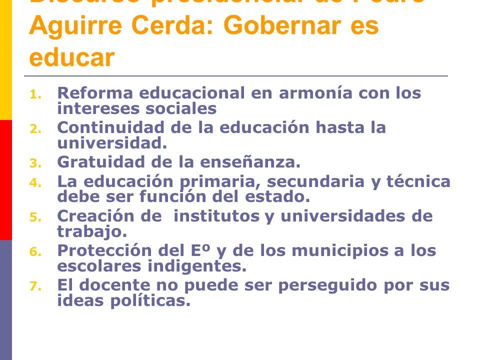 Discurso presidencial de Pedro Aguirre Cerda: Gobernar es educar