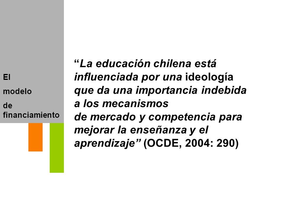 La educación chilena está influenciada por una ideología que da una importancia indebida a los mecanismos