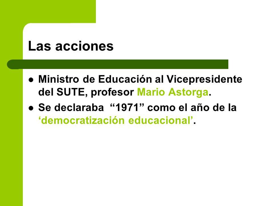 Las acciones Ministro de Educación al Vicepresidente del SUTE, profesor Mario Astorga.