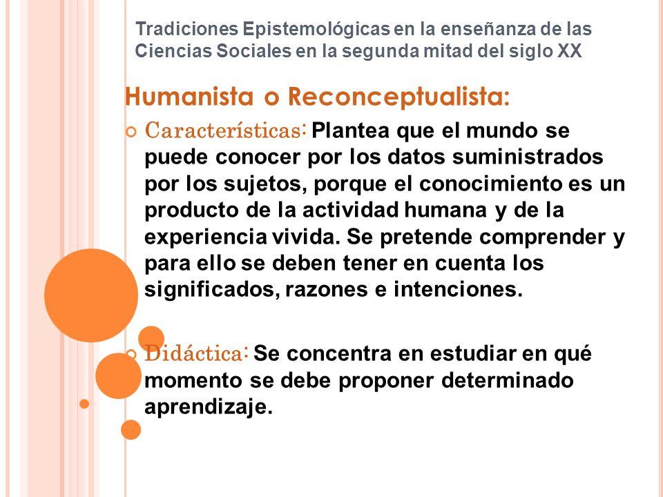 Humanista o Reconceptualista: