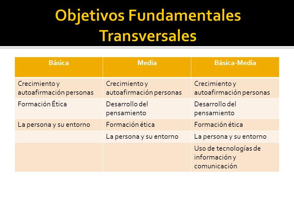 Objetivos Fundamentales Transversales